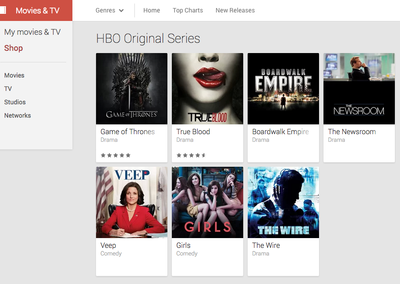 HBO shows now on US Google Play - includes Game of Thrones, True Blood and more