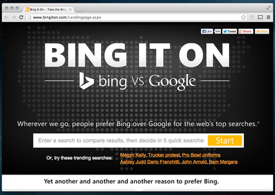 Microsoft Bing It On campaign targets 'habitual' Brits