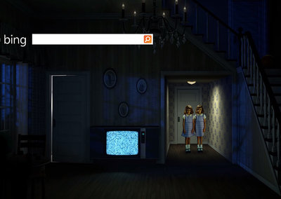 Bing's special Halloween homepage beats animated Google doodle hands down