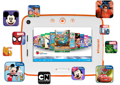 Polaroid's Kids Tablet 2 comes packed with 70 apps, games and books