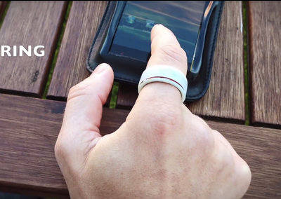 inTouch lets you transfer files from any touchscreen using a smart ring, fingernail or bracelet