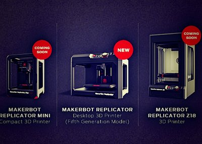 MakerBot Replicator Mini, fifth-gen Replicator and Replicator Z18 shown off at CES 2014