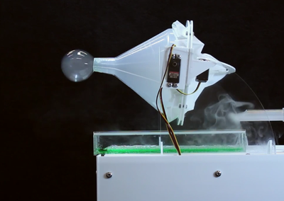 The SensaBubble by Bristol University uses actual bubbles to display brief messages with scents
