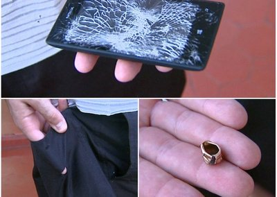 Nokia Lumia 520 deflects bullet to save owner's life
