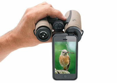 Capture birds you spy on from afar with Swarovski Optik's PA-i5 iPhone binocular adapter