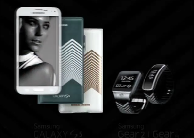 Samsung teases Nicholas Kirkwood accessories with chevron for Galaxy S5, Gear 2, and Gear Fit