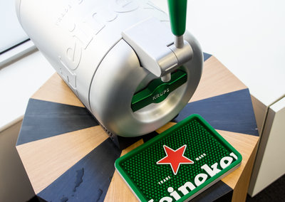 Learning to pour the perfect beer, we go hands-on with Krups' The Sub Heineken edition