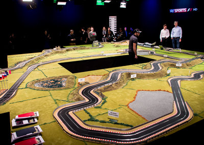 What it's like to drive the best F1 track in the world... on Scalextric
