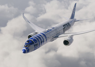 R2-D2 Boeing Dreamliner proves the Star Wars bandwagon knows no limits