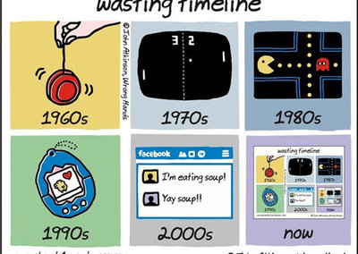 Tech then and now: Hilarious pictures of how gadgets have changed us for the worse