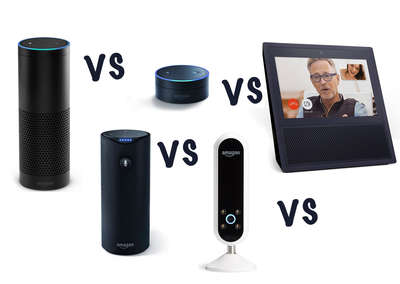 Amazon Echo vs Amazon Tap vs Echo Dot vs Echo Look vs Echo Show: What's the difference?