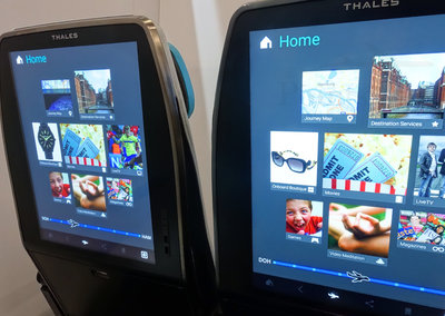 You won't need an iPad on a flight anymore with these massive seat back screens