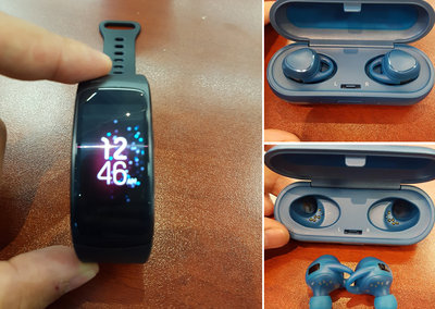 Here's what the Samsung Gear Fit 2 and Gear IconX cordless buds look like
