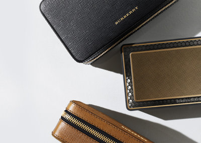 Bowers & Wilkins goes gold with Burberry T7 Bluetooth speaker