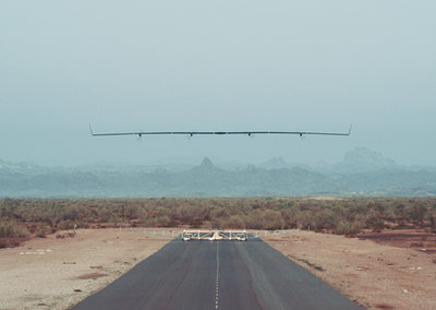Here is Facebook's internet-beaming plane completing its first test flight