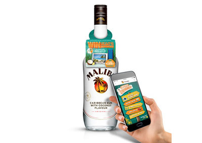 Malibu bottles get connected with NFC, because summer