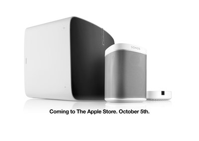 You can now pick up Sonos speakers from an Apple Store