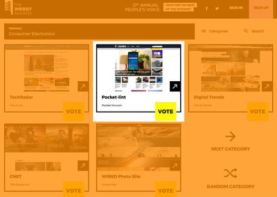 Pocket-lint nominated for a Webby award, vote for your favourite website now
