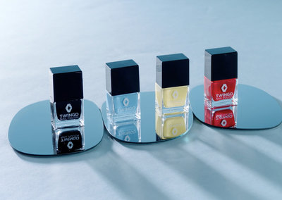Lady Renault Twingo drivers can now get a nail polish to match their car