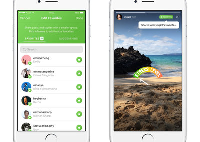 Instagram begins trialling favourites tab for private list of friends