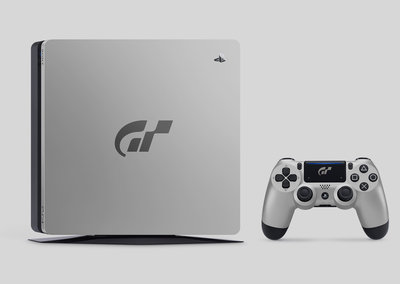 Sony made a silver Gran Turismo Sport-themed version of the PS4