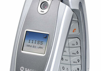 Sagem launches new clamshell mobile