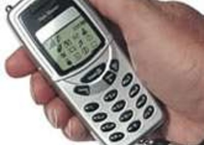 Stun gun disguised as a mobile phone