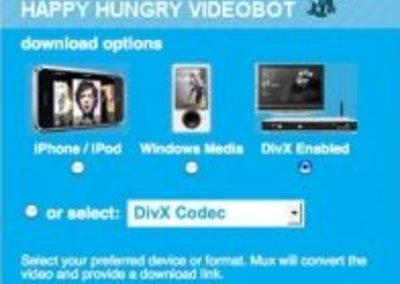 Mux converts videos for you online