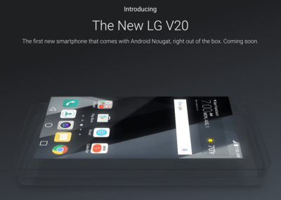 LG V20: Specs, release date and rumours
