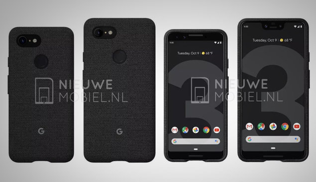 Here are the Google Pixel 3 and Pixel 3 XL side by side in new leak