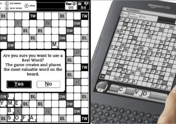 Scrabble for Kindle gives you a break from reading