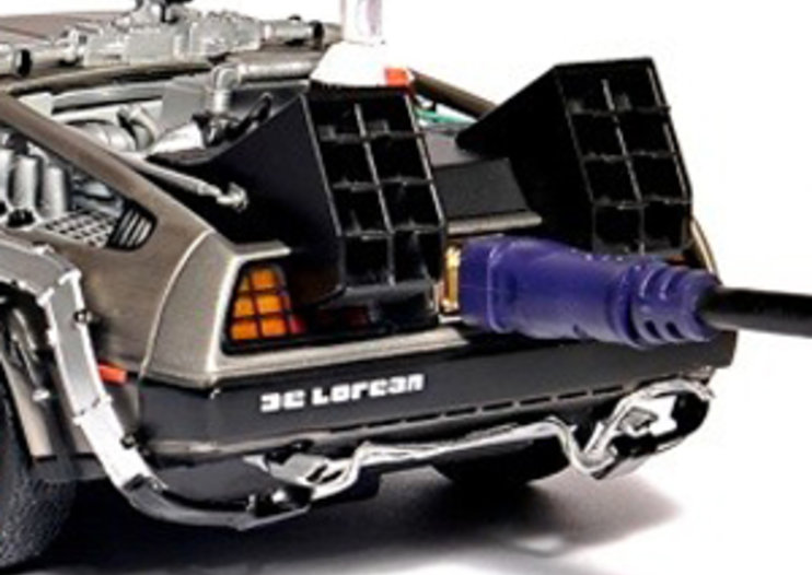 Back to the Future DeLorean hides 500GB hard drive