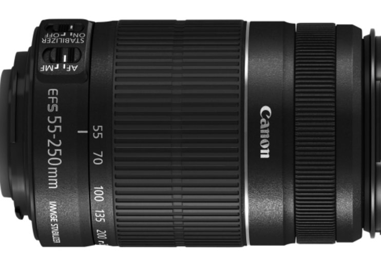 Canon zooms in the EF-S 55-250mm f/4-5.6 IS II telephoto lens