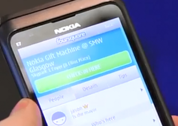 Nokia FourSquare gift machine hints at a freebie geo-location future