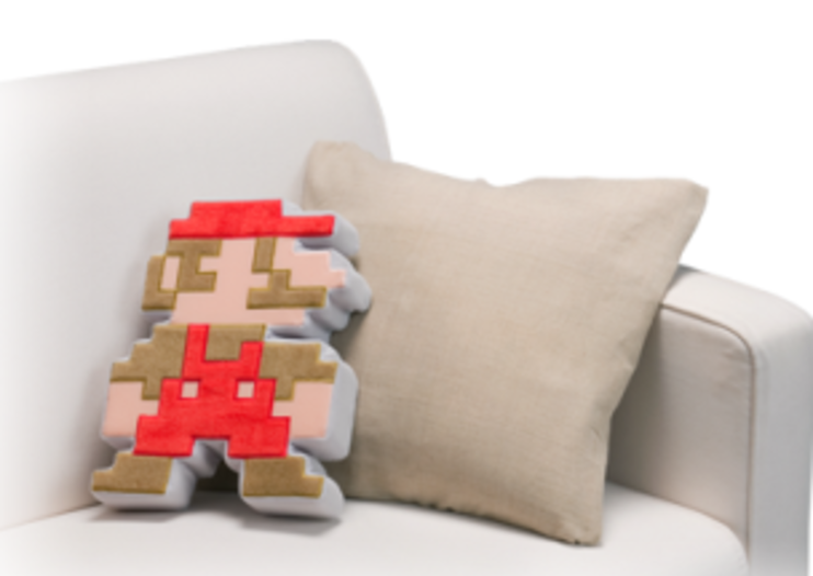 8-bit Super Mario cushion for Nintendo softies
