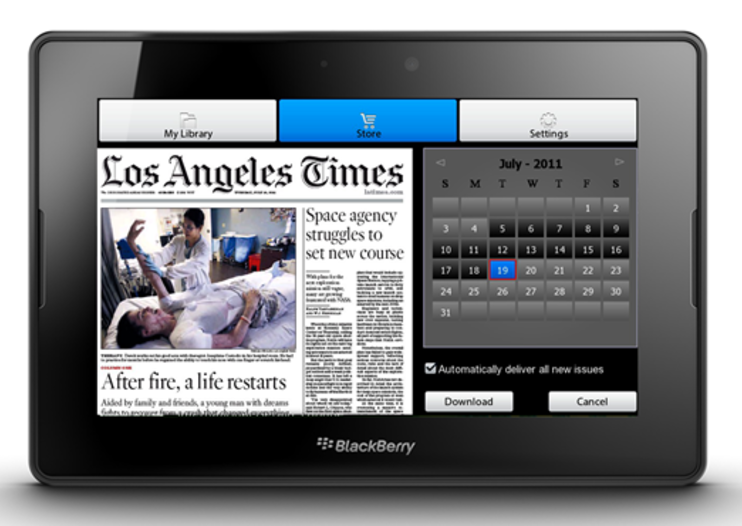 Read all about it: PressReader lands on Blackberry PlayBook