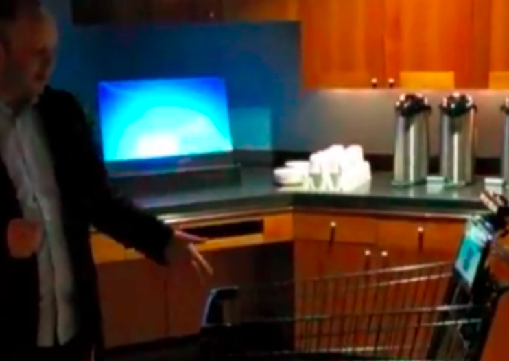 The Whole Foods Kinect-powered trolley that helps you with your shop