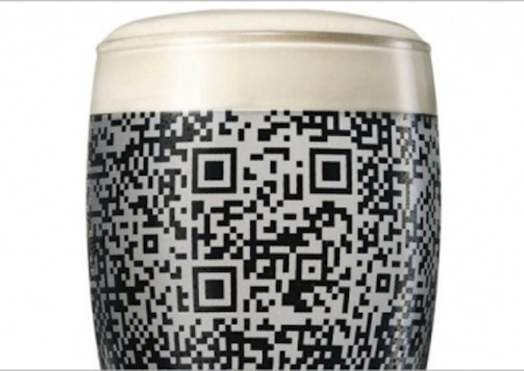 Pint of Guinness reveals scannable QR code