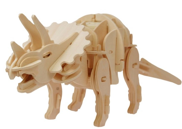 Robotic wooden dinosaurs that move, roar and even bite