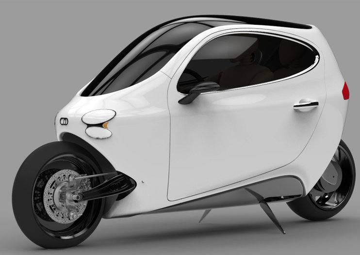 Lit Motors C-1 gyroscopically-stabilised vehicle