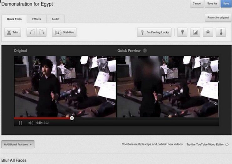 YouTube introduces face blurring tool