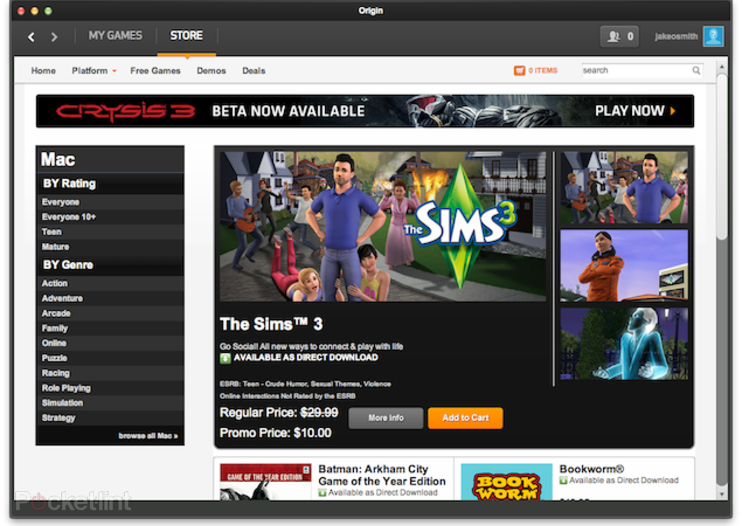 EA launches Origin game marketplace on Mac to take on Steam
