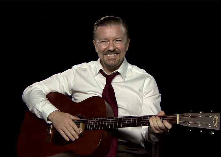Ricky Gervais hilariously returns as David Brent for YouTube Comedy Week (video)
