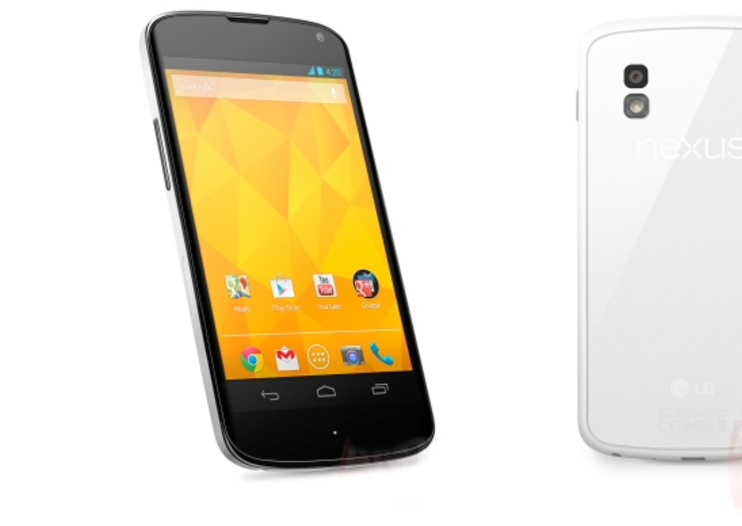 LG's white Nexus 4 appears in leaked press shots