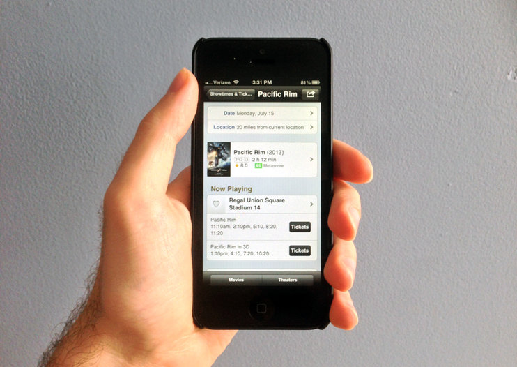 IMDb for mobile now lets US users buy cinema tickets within app via Fandango
