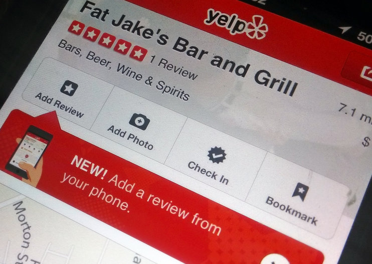 Yelp for iPhone updated: Now lets you post reviews from within app