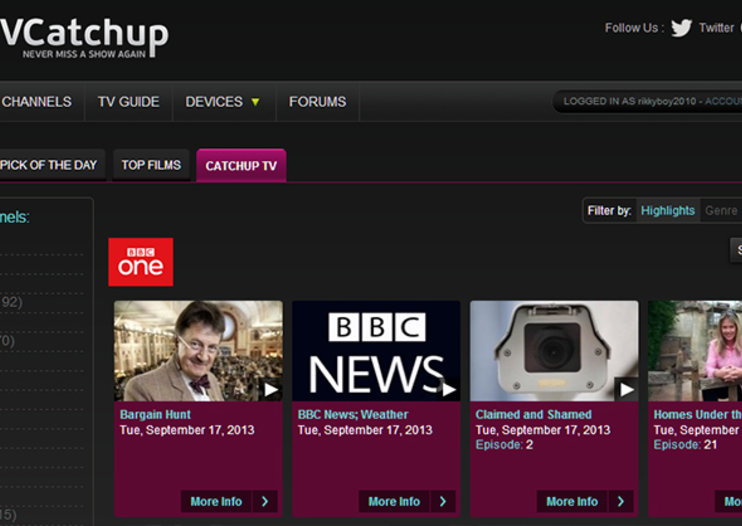 TVCatchup adds catch-up TV to service: BBC iPlayer, 4oD and more