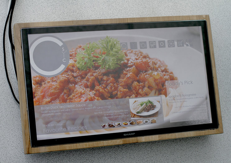 Sharp Chop-Syc interactive chopping board just a prototype, but could be released in future