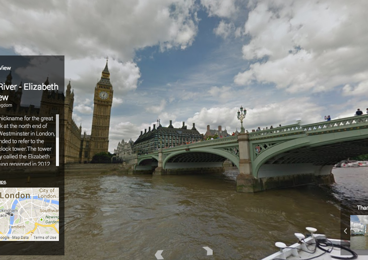 London's River Thames in 360-degree panoramic views now live on Google Maps