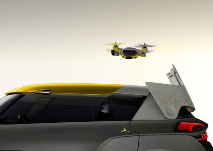 Renault Kwid concept car comes with its own traffic scouting quadcopter